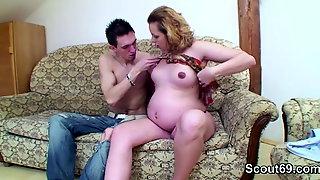 Skinny Kinky Boy With Huge Dick Fucks Pregnant MILF