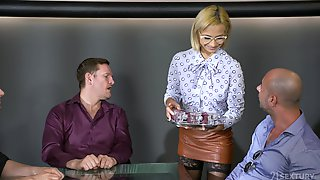 Short Hair Lady Veronica Leal Is Ready To Jump On Her Friends Hard Dicks