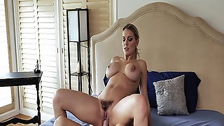 Hot Mommy With Big Huge Titties Hops Up On Her Stepsons Rod
