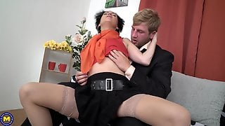 Mature Amateur Brunette Lucinda Sucks And Rides Cock At The Office