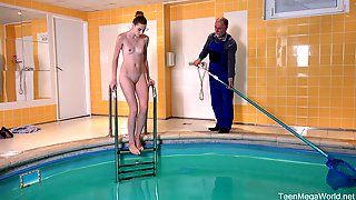 Stunning Ilona C Gets Her Pussy Eaten And Fucked By A Stranger At The Pool
