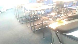 Real Teacher Jacks Off Between Classes