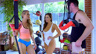 Abigail Mac And Nicole Aniston Have A Threeway At The Gym