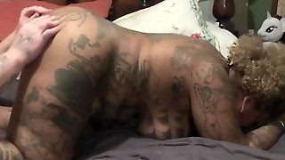 Ebony Milf Gets Pussy Spread And Bitten Then Drinks BWC Piss