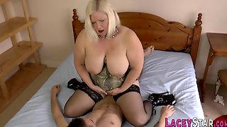 Brit Granny Domina Rides And Gets Ass Banged