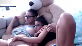 Twins Sisters Masturbation Each Other On Live Webcam