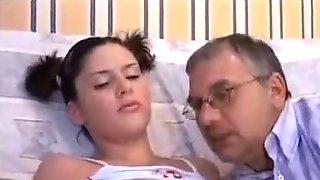 Dark Haired Chick Named Sara Fucked By Her Stepdad