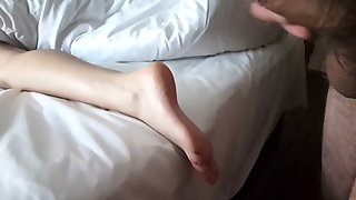 Flash And Caught Then Masturbating On Feet