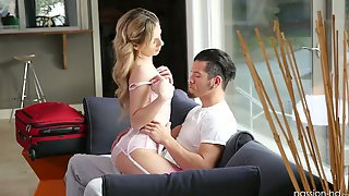 Attractive Lovely GF Bella Rose Gets Slit Stretched In Sideways Pose