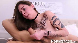 Amateur Cutie Sucking Bo Sinns Monster Dick While Fingered