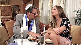 Big Tit Britney Amber Cucks Her Fiance By Fucking The Thick Cock Of A Priest