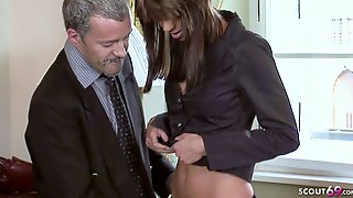 Anorexic Teen Seduce To Rough Anal Sex By Boss In Office