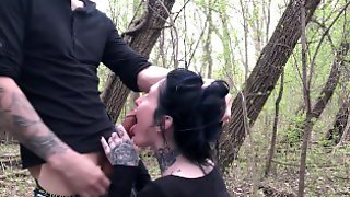 Real Couple Public Outdoor BJ And Sex With Cum On Back From Big Cock