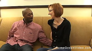 Skinny Cougar Has To Moan While A Black Guy Fucks Her Ass