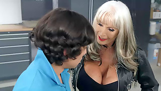 Chesty Mature Sally DAngelo Goes For A Ride On A Young Dick