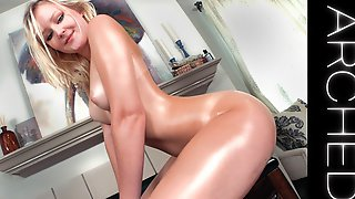 ARCHED -Natalia Queen & Laz Fyre *Arched Back* Oiled TEEN Sex