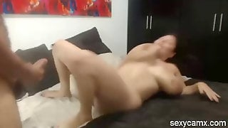 Amateur Latina MILF With Huge Boobs Gets Fucked Live At
