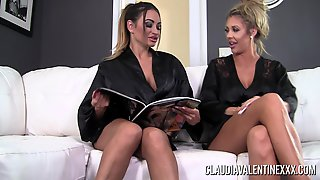 Pornstars Claudia And Courtney Waste No Time Skipping Their Massage!