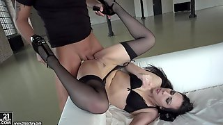 Butt Fucking Action With Girl In Stockings