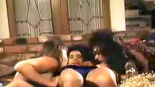Classic Porn Lesbians Sharing A Fat Dildo