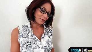 Classy Mature Stepmom Blows Her Stepson Like A Pro