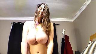 Dark-Haired With Meaty Milk Tits Is Posing And Milking In Front Of Her Web Camera