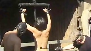 Sub Girl Sucking Dick In The Hay And Getting Spanked