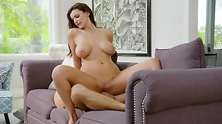 Classy Housewife Becky Bandini Rides Lovers Dick With Passion