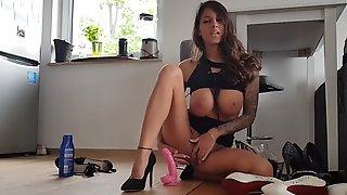 Hot German Amateur Slut Gives A Perfect Dildo Handjob