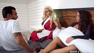 Naughty Housecleaner Nicolette Shea Joins To Horny Couple