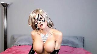 Bigtits Blonde Milf Wear Mask