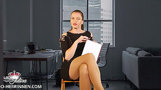 Application At Office Mistress As Nylon-,Shoe- & Foot Slave
