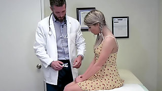 Cute Little Blonde Vienna Rose Cums All Over Doctors Dick