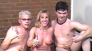 Carol Fucks 3 Guys At The Opening Weekend Of Her PornAudition Studio