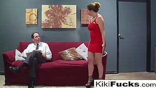 Kiki Fucks A Hippie In Front Of Her Boring Husband