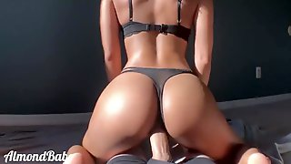 Croatian Wife With Big Buttocks Rides My Thick Dick