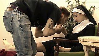 Nun Foot-Worship