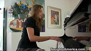 Naughty America Brunette Samantha Ryan Fucking In The Bench