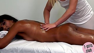Horny Ts Massage Turns Into Hard Anus