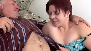 Curves Bitch Rides On An Old Mans Hard Dick