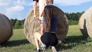 Summer Sex In The Field Close To The Road (Hungarian Couple)