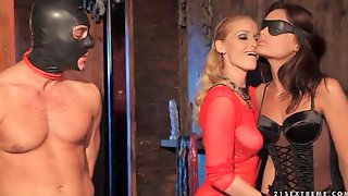 Blonde Mistress Dominates A Couple For Pleasure