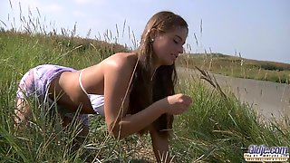 Beach Wild Sex For Old Man And A Busty Girl