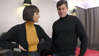Nice Brunette Janice Griffith Is Playing With Her Pussy While Dude Fucks It Hard Doggy Style