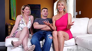 Threesome With Kiki Dare And Her Milf Friend Is The Best Part Of The Day