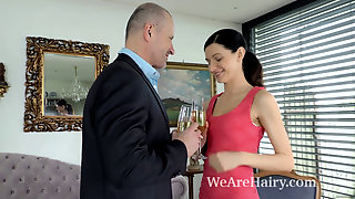 We Are Hairy - Efina Enjoys A Hard Pounding From Her Sexy Lover