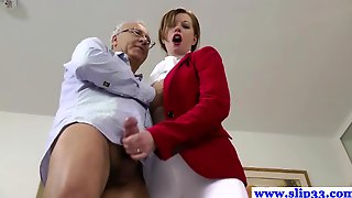 British Amateur Pussyfucked By An Old Mans Hard Cock And Loves It