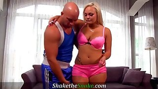 Shake The Snake Fit Babes Banged At The Gym By Nasty Train
