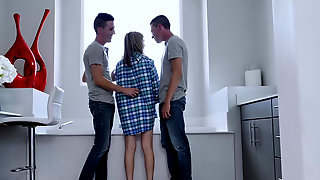 Sarah Bella Having Fun With Her Two Horny Stepbrothers