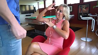 Hot Wife Sucks Off A Guest Cock Gets Cum Splashed